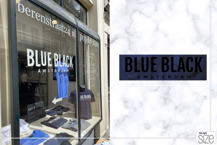 pop-up-store blue black amsterdam